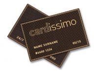 Danh thiếp sang trọng với chất liệu sợi cacbon và vàng